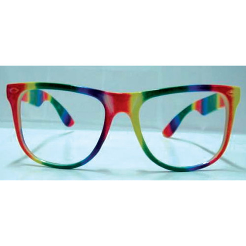 Rainbow Colored Frames Glasses