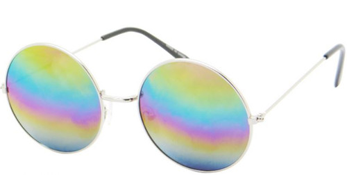 Hippie Style Glasses Colored Lens