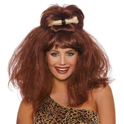 Cave Girl Wig with Bone