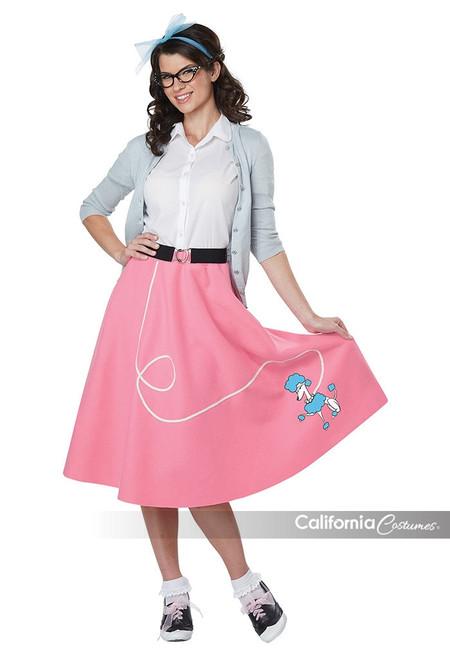 50's Poodle Skirt Adult Costume