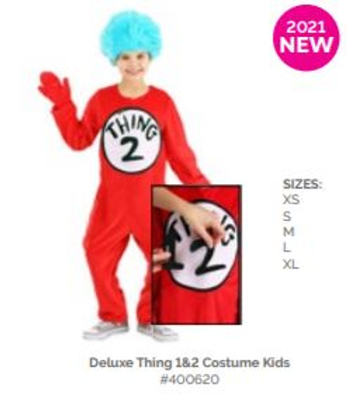 Thing 1 & 2 Deluxe Costume Kids