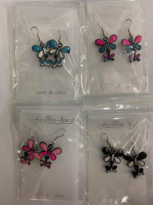 Dragonfly Multicolored Earrings