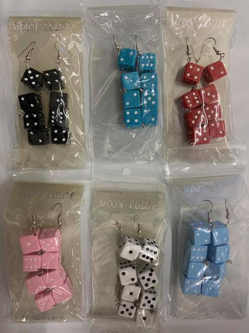 Six Sided Dice Earrings