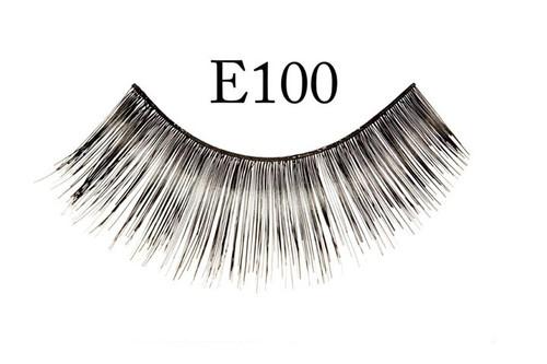 E100 Thin Long Black Eyelashes