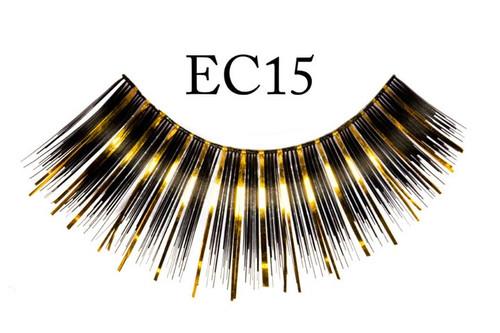 Black/Gold Metallic Eyelashes