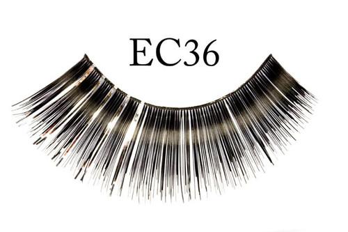 Black Eyelashes w/Silver Accents