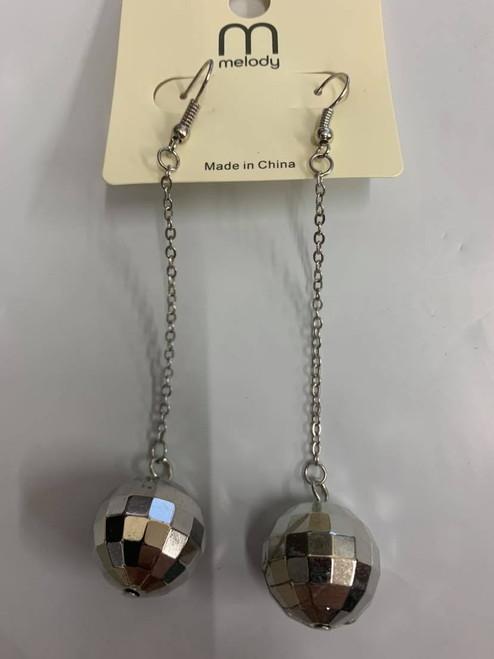 Dangling Disco Ball Earrings
