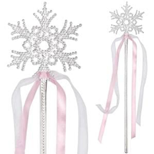 Snowflake Wand w/Ribbon