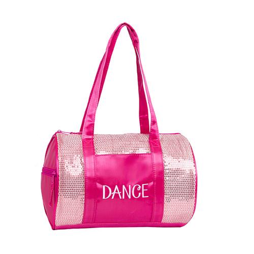 Pink Sequins Duffle Dance Bag