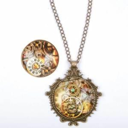 Steampunk Necklace & Ring Set