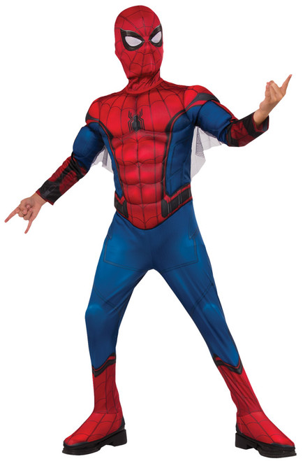 Boy's Deluxe Spiderman Costume - Red & Blue