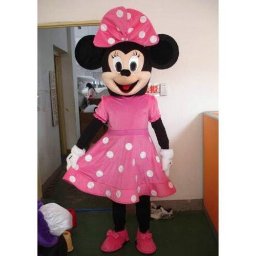 Rent: Pink Miss Mouse Mascot Character Costume