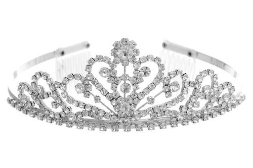 Jewelry Tiara Crystal/Silver 60202