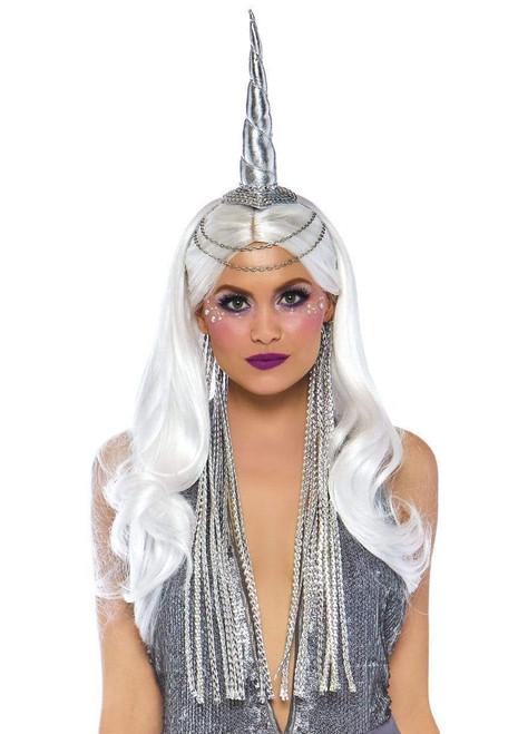 Celestial Unicorn Headband with Chain Accent