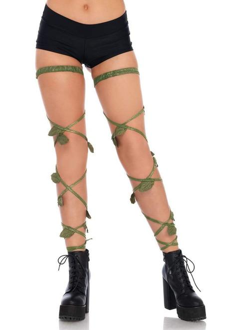 Ivy Shimmer Garter Leg Wraps