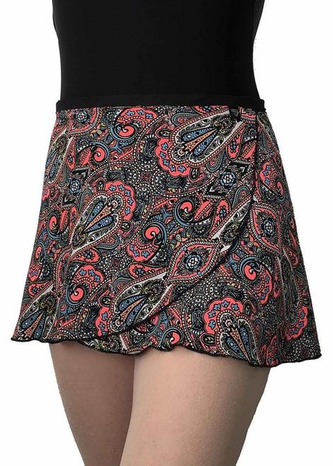 WS187 Wrap Skirt Neon Paisley