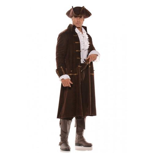 Captain Barrett Brown Coat, Lace Front Shirt, Pants, Sash & Hat (28586)