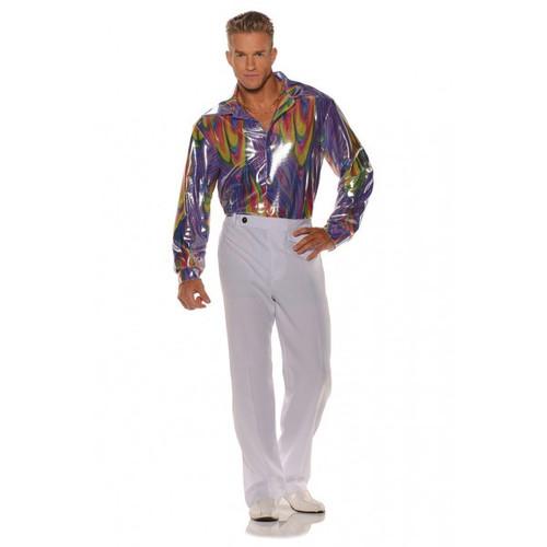 Men's Disco Shirt Purple Swirl (28595)