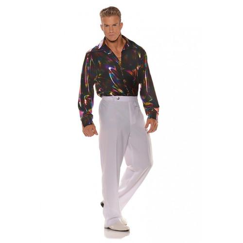 Underwraps Disco Shirt Metallic Rainbow