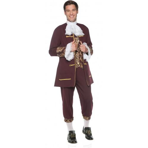Colonial Gentleman Burgundy Adult Costume