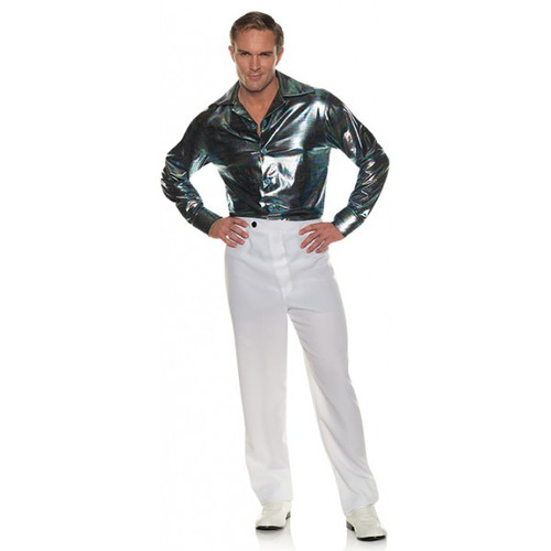 Disco Shirt-Multicolor Lines Adult Costume