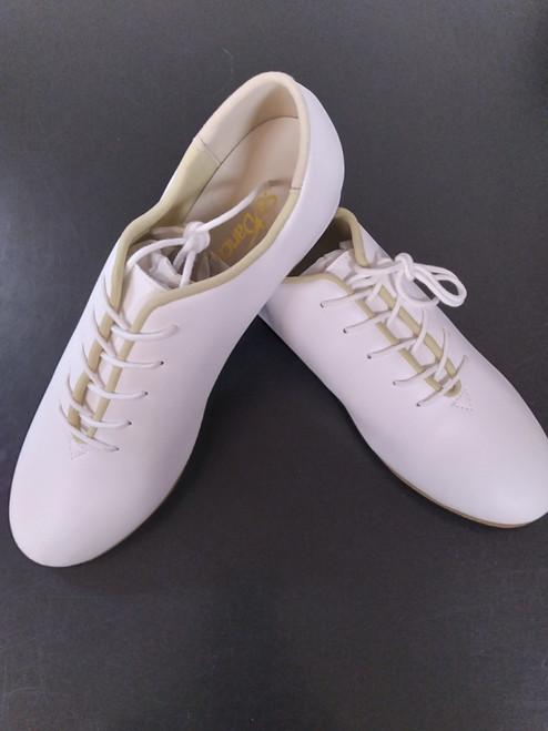 SoDanca Childs White Split Sole Stevens Stompers Clogging Tap Dance Shoe
