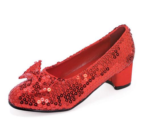 "Judy 1"" Heel Red Sequined Childs Shoe"