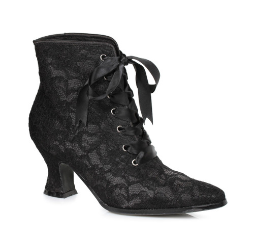 253-Elizabeth 2.5 Inch Lace Ankle Boots