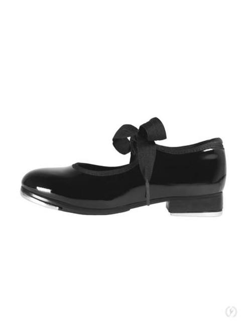 Eurotard Girls Lindy Patent Leather Tap Shoe with Eurotard Euphonix Taps