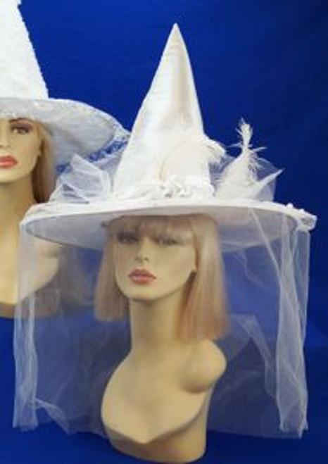 White Satin Witch Hat