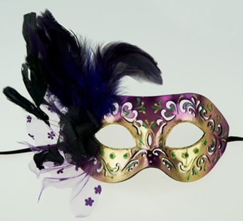 Xenia Feather Eye Mask