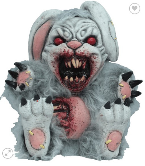 Ghoulish Bad Bunny Zombie Teddy Bear