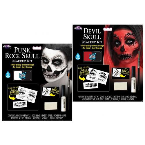 Sparkle & Spike Skulls Makeup Kit Assortment