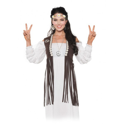 Underwraps Fringed Hippie Vest Ladies