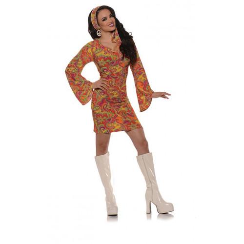Underwraps Go Go Dress Orange Ladies Costume