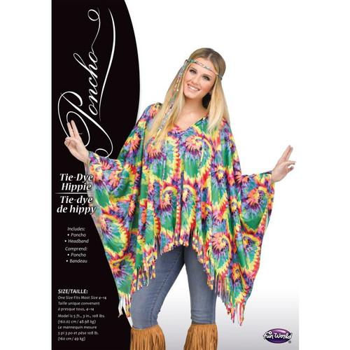 Tie-Dye Hippie Poncho
