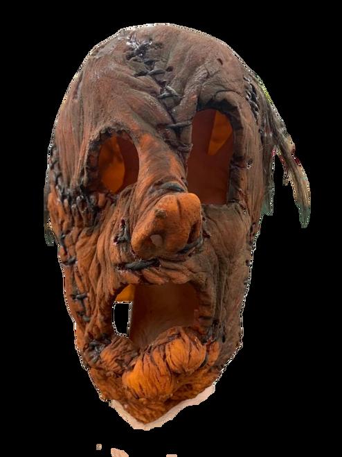Sewn Pumpkin Adult Fit Mask w/Hair