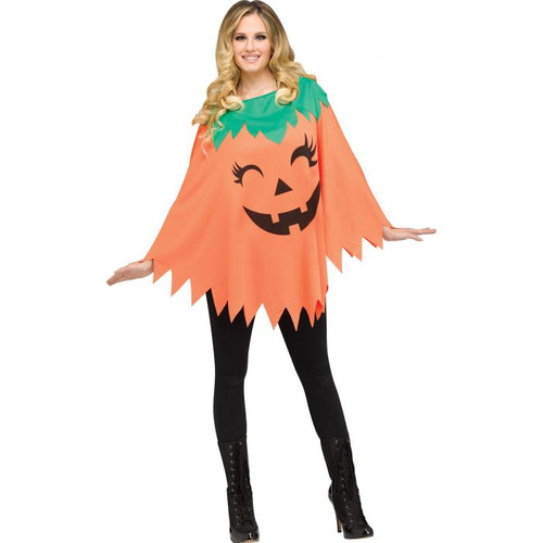 Pumpkin Poncho - Adult