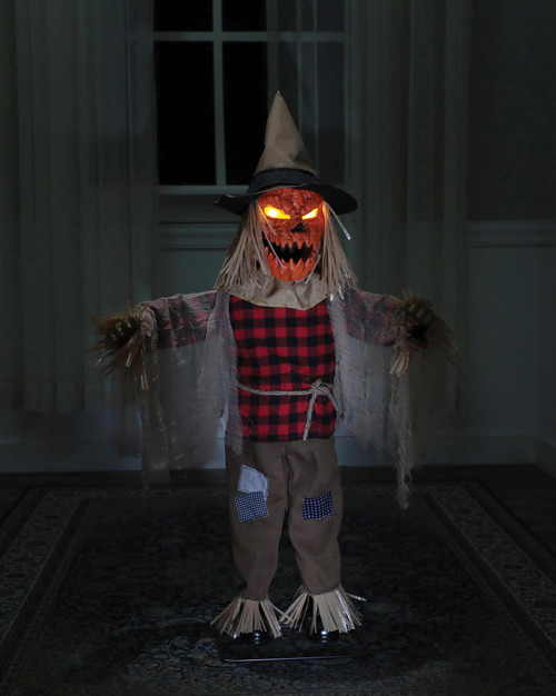 """Morris 36"""" Twitching Scarecrow Animated Prop"""