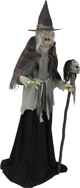 6' Lunging Witch With DigitEye Animated Prop