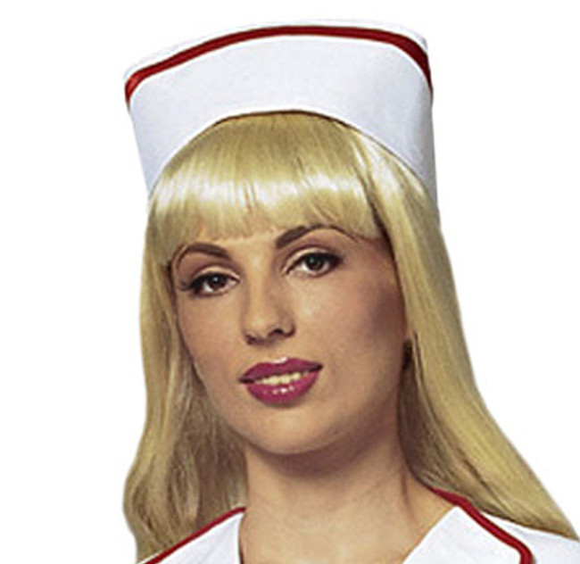 /white-and-red-nurse-hat/