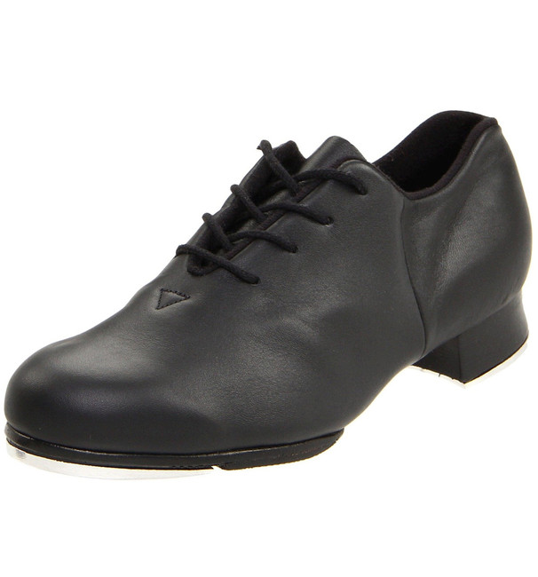 Men's streamline flexible tap shoe allows for freedom of movement with support.  Features  Full leather split sole allows the dancer a greater freedom of movement whilst maintaining support Non-slip pro balance rubber pad next to the front toe tap provides secure grip to prevent slipping and levels the sole for better balance Strong heel counter Full Kashmir lining for comfort and reduced moisture Notched collar at heel to relieve pressure on Achilles tendon Bloch's shockwave taps Leather stacked heel Fabric  Leather Sizing Information & Suggestions  Start with 1 full size down from street shoe.