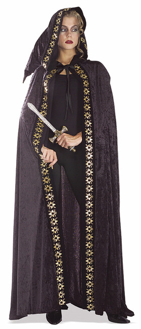 /black-velvet-cape-trimmed-in-skull-print/