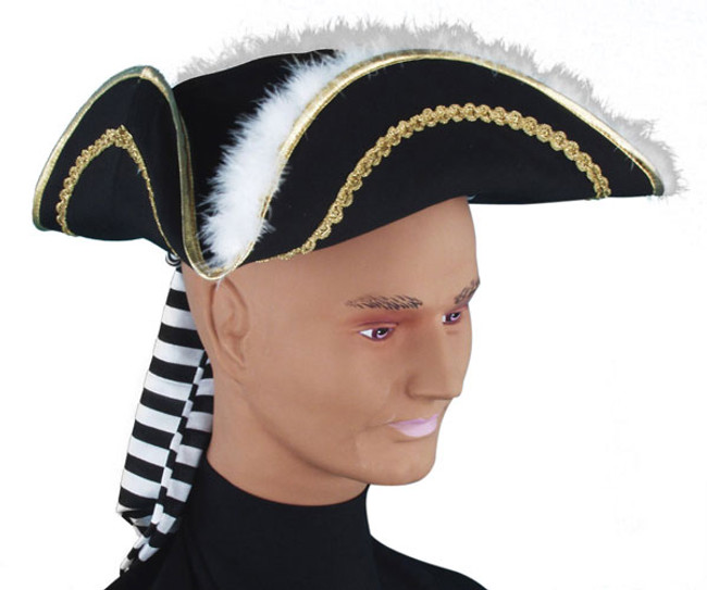 /captain-cook-pirate-hat-black-with-white-marabou-trim/