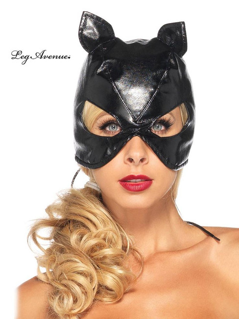 /faux-leather-cat-mask-w-lace-up-back/