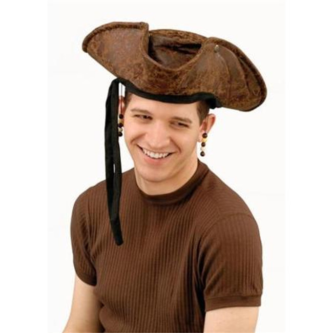 /distressed-pirate-hat-brown-with-beads/
