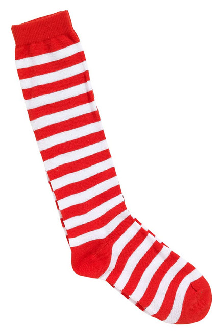 /child-red-white-striped-socks/