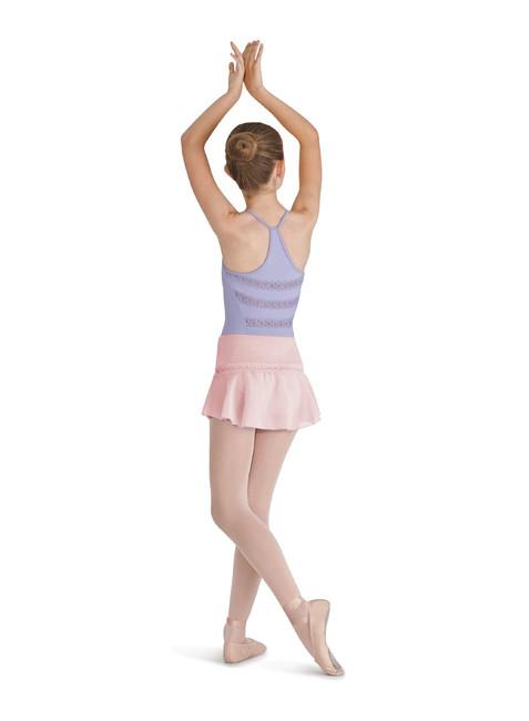 bloch girls lace trim peplum hem skirt