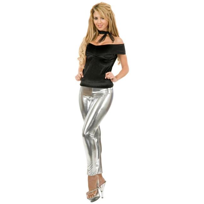 Liquid Metal leggings silver