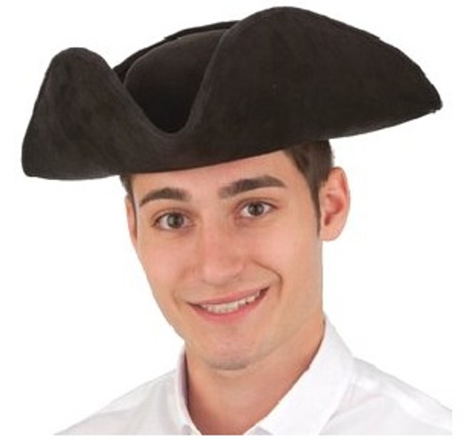 /black-faux-suede-tricorner-hat/